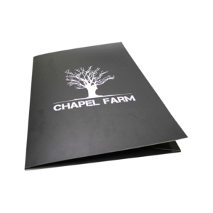 printed Folders with foiling